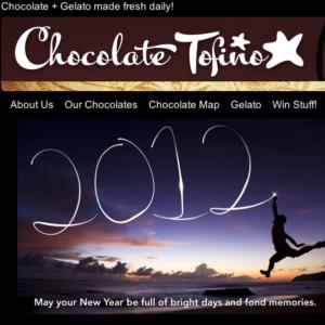 Chocolate Tofino Website