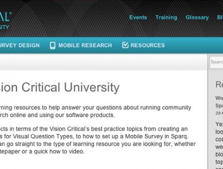 Vision Critical University