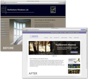 Web Design - Northshore Windows Before & After