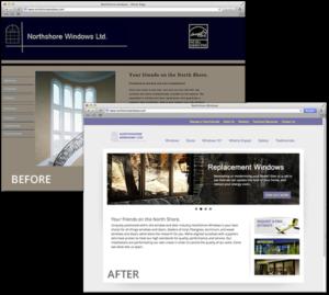 Web Design - Northshore Windows Before & After