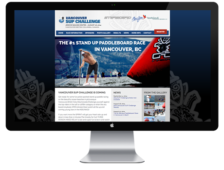 Vancouver SUP Challenge Website Design